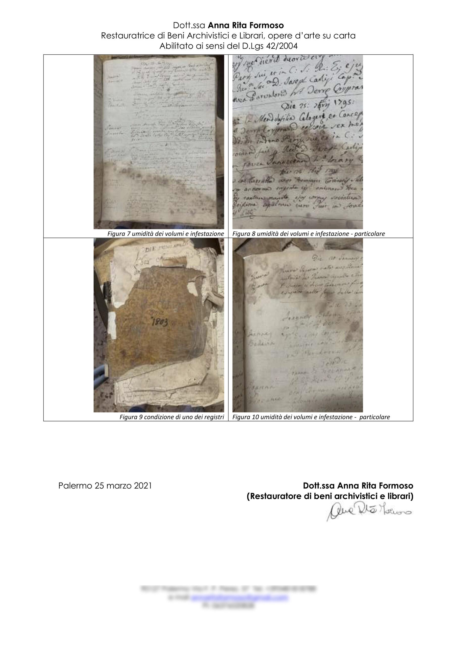 Relazione Archivio chiesa Madonna del Carmelo Grotte2
